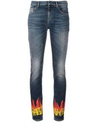 Faith Connexion | Flame Print Skinny Jeans | Lyst