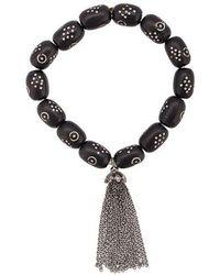Loree Rodkin - 18t Gold Coral Bead Tassel Bracelet - Lyst