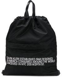 CALVIN KLEIN 205W39NYC - Slogan Drawstring Backpack - Lyst