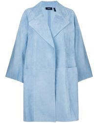 Theory - Oversized Cropped Sleeve Coat - Lyst