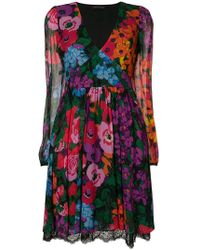 Twin Set - Floral Flared Dress - Lyst