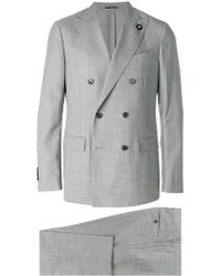 Lardini - Double-breasted Formal Suit - Lyst