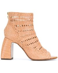 L'Autre Chose - Woven Perforated Boots - Lyst