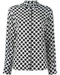 MSGM - Polka Dot Silk Shirt - Lyst