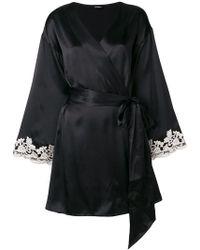 La Perla - Embroidered Sleeves Robe - Lyst