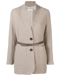Peserico - Belted Single Breasted Coat - Lyst