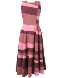 ROKSANDA - Sleeveless Flared Stripe Dress - Lyst