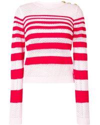 Pinko - Striped Knit Jumper - Lyst