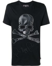 Philipp Plein - T-Shirt mit Totenkopf-Patch - Lyst