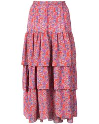 Figue - Frida Tiered Floral Skirt - Lyst