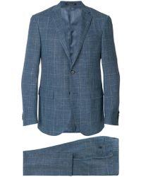 Corneliani - Plaid Single Breasted Suit - Lyst