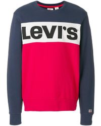 Levi's   Colour Block Sweatshirt   Lyst