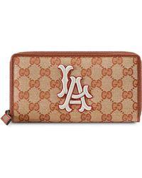 0af90d927d78 Gucci - Original GG Zip Around Wallet With La Angels Patchtm - Lyst