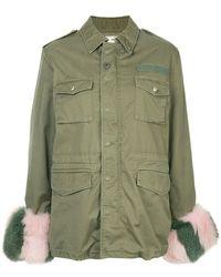 Tu Es Mon Tresor - M65 Fur Trim Field Jacket - Lyst