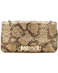Just Cavalli - Snakeskin Effect Clutch - Lyst