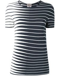 Armani - Striped Knitted Top - Lyst