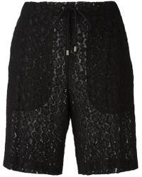 Giamba - Lace Drawstring Shorts - Lyst