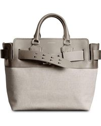Burberry - The Medium Canvas And Leather Belt Bag - Lyst