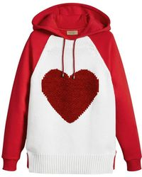 Burberry - Heart Intarsia Hoodie - Lyst