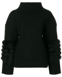 Saks Potts - Fox Fur Trim Jumper - Lyst