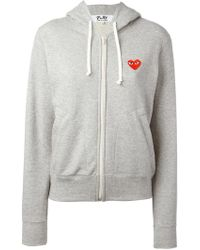 Play Comme des Garçons - Embroidered Logo Hoodie - Lyst