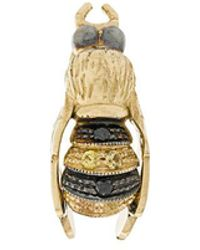 Delfina Delettrez - 9kt And 18kt Yellow Gold To Bee Or Not To Be Stud Earring - Lyst
