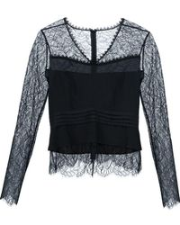 Yigal Azrouël - Long Sleeves Lace Blouse - Lyst