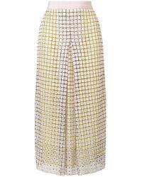 Marco De Vincenzo - Crystal Embellished High-waisted Skirt - Lyst