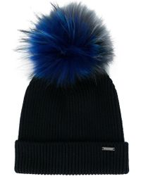 Woolrich - Pompom-embellished Ribbed Beanie - Lyst