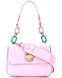 Ferragamo | Chain Embellished Shoulder Bag | Lyst