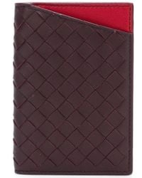 Bottega Veneta - Dark Barolo/china Red Intrecciato Nappa Card Case - Lyst