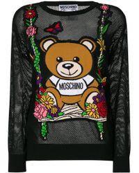 Moschino - Mesh Teddy Swing Sweater - Lyst
