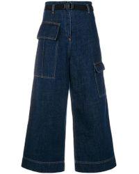 8d53e7e9 KENZO - Cropped wide-legged Jeans - Lyst