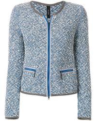 Marc Cain - Zipped Knit Jacket - Lyst