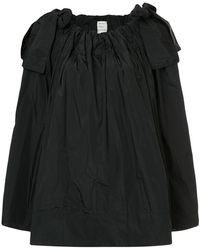 Maison Rabih Kayrouz - Paper Bag Flared Blouse With Bow Details - Lyst
