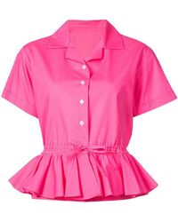 TOME - Short-sleeve Flared Shirt - Lyst