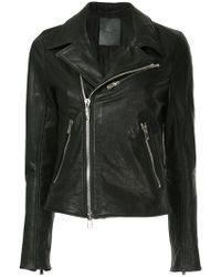 Fagassent - Leather Biker Jacket - Lyst