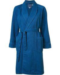 Blue Blue Japan - Shawl Collar Coat - Lyst
