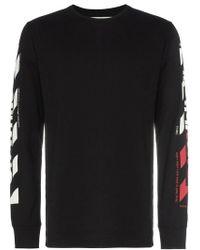 Off-White c/o Virgil Abloh - T-Shirt mit Logo-Streifen - Lyst