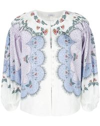 Vilshenko - Embroidered Button Blouse - Lyst