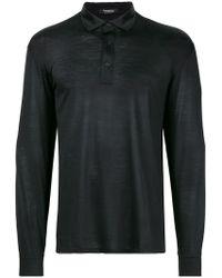 Ermenegildo Zegna - Longsleeved Polo Shirt - Lyst