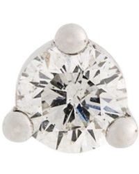 Delfina Delettrez - Dots Solitaire Diamond And Pearl Earring - Lyst