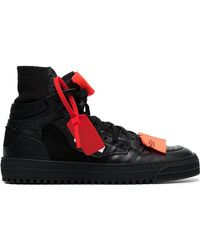 Off-White c/o Virgil Abloh - Black Off Court 3.0 Leather Trainers - Lyst