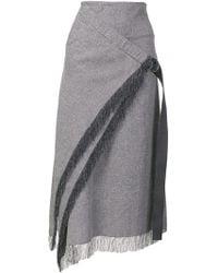 Dion Lee - Fringe Trim Wrap Front Skirt - Lyst