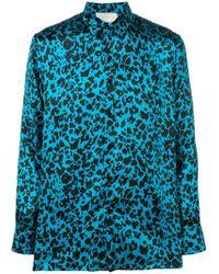 d31aaa97183b72 Maharishi Leopard-print Silk-twill Shirt in Red for Men - Lyst