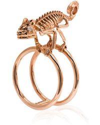 Daniela Villegas - 18k Rose Gold Baby Chameleon Ring - Lyst