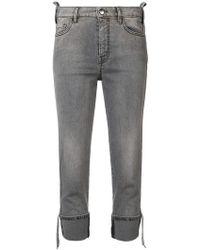 Just Cavalli - Studded Side Panels Jeans - Lyst
