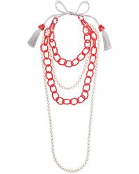 Night Market - Beaded Chain Necklace - Lyst
