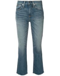 Polo Ralph Lauren - Cropped Boot Cut Jeans - Lyst