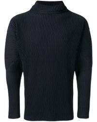 Pleats Please Issey Miyake - Ribbed-style Mock Neck Fitted Jumper - Lyst